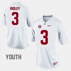 White College Football Youth Calvin Ridley Alabama Jersey #3