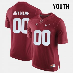 Bama Customized Jersey For Kids #00 College Limited Football Crimson