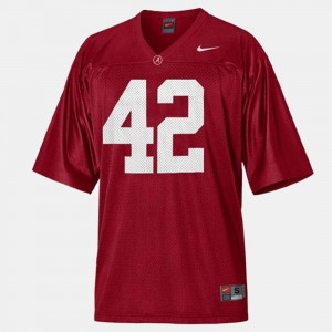 College Football Eddie Lacy Alabama Crimson Tide Jersey Youth(Kids) #42 Red