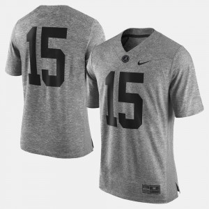 Gray For Men Gridiron Gray Limited Alabama Jersey #15