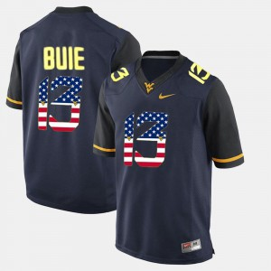 US Flag Fashion #13 Mens Navy Blue Andrew Buie West Virginia Mountaineers Jersey