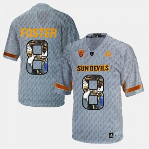 For Men Gray Player Pictorial D.J. Foster Arizona State Jersey #8