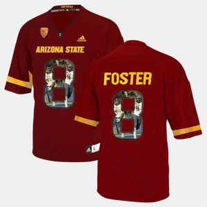 #8 D.J. Foster Arizona State Sun Devils Jersey Men Player Pictorial Red