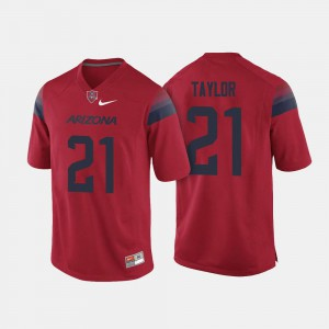 College Football For Men J.J. Taylor Arizona Jersey #21 Red