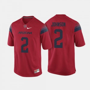 Tyrell Johnson Wildcats Jersey #2 For Men's Red College Football