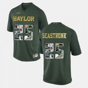 Lache Seastrunk Baylor University Jersey Player Pictorial Mens #25 Green