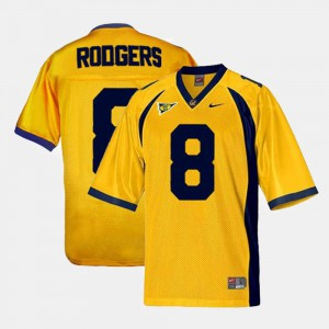 College Football Aaron Rodgers Cal Jersey Gold #8 Youth