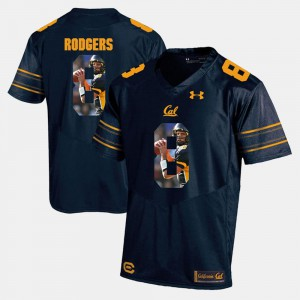 Player Pictorial #8 For Men Aaron Rodgers Bears Jersey Navy Blue