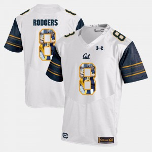 Player Pictorial Men's White Aaron Rodgers Cal Golden Bears Jersey #8