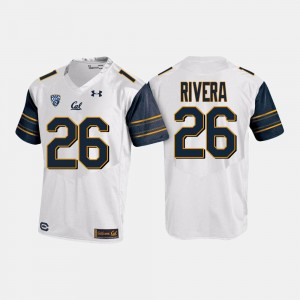 College Football #26 White Mens Bug Rivera Cal Jersey