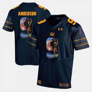 C.J. Anderson Cal Golden Bears Jersey For Men Navy Blue Player Pictorial #9