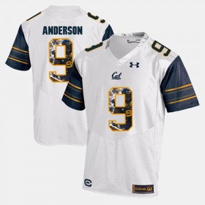 White Player Pictorial C.J. Anderson Cal Golden Bears Jersey #9 Men's