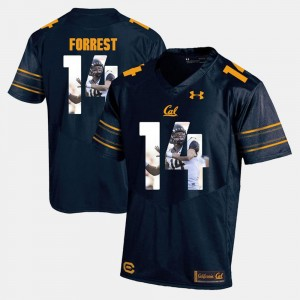 For Men Player Pictorial #14 Navy Blue Chase Forrest Golden Bears Jersey