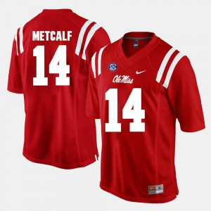 Red Alumni Football Game #14 For Men's D.K. Metcalf Ole Miss Jersey