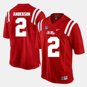 Alumni Football Game Mens Deontay Anderson Ole Miss Jersey Red #2