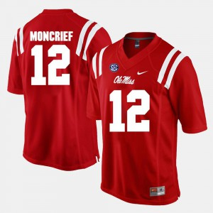 Alumni Football Game Donte Moncrief Ole Miss Rebels Jersey Men's Red #12