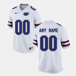 Men's White College Limited Football Florida Customized Jerseys #00