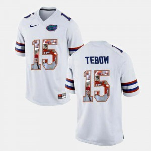 #15 White Tim Tebow Florida Jersey For Men's College Football