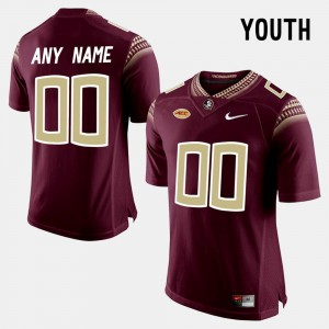 Seminoles Custom Jersey College Limited Football Red #00 For Kids