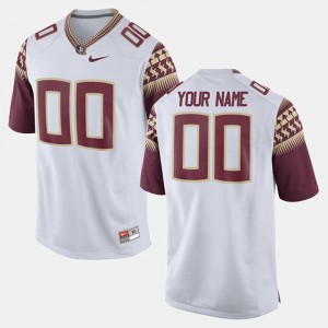 Florida State Seminoles Customized Jerseys College Limited Football White For Men #00