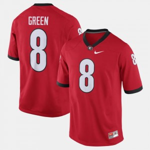 For Men's A.J. Green UGA Jersey Red #8 Alumni Football Game