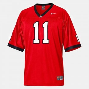 College Football #11 Aaron Murray University of Georgia Jersey Red For Men
