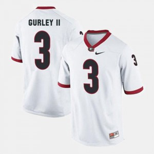 College Football White #3 For Men's Todd Gurley II UGA Jersey