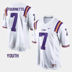Leonard Fournette LSU Tigers Jersey #7 College Football White Youth