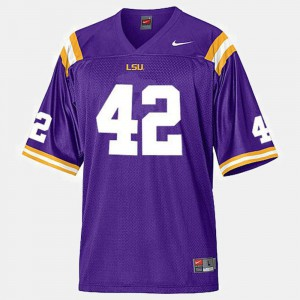 Purple #42 College Football Mens Michael Ford Louisiana State Tigers Jersey