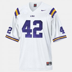#42 Michael Ford Tigers Jersey White College Football For Men's
