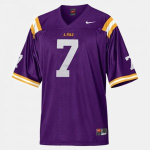#7 For Men's Patrick Peterson Louisiana State Tigers Jersey Purple College Football