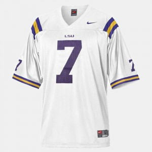 White College Football #7 Youth(Kids) Patrick Peterson Louisiana State Tigers Jersey