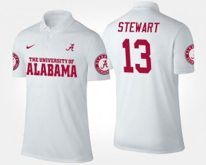 Name and Number #13 ArDarius Stewart Alabama Polo For Men's White