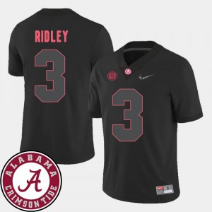 Black College Football For Men Calvin Ridley Alabama Jersey 2018 SEC Patch #3