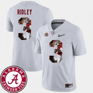 Pictorial Fashion Football #3 White Calvin Ridley University of Alabama Jersey Mens