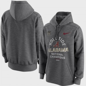 For Men's Alabama Hoodie Bowl Game Charcoal College Football Playoff 2017 National Champions Celebration Victory
