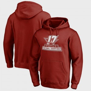 Bowl Game University of Alabama Hoodie Mens College Football Playoff 2017 National Champions Official Crimson