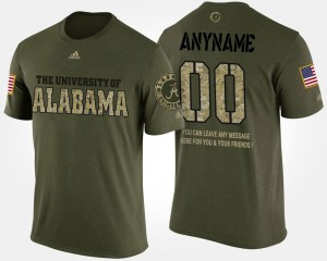 Camo #00 Bama Customized T-Shirt Short Sleeve With Message Men Military