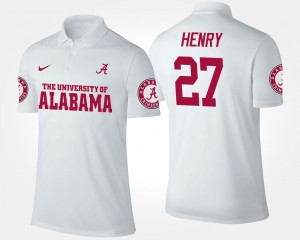 White Name and Number #27 For Men's Derrick Henry Bama Polo