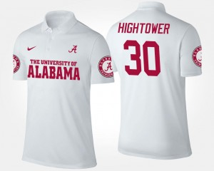 Name and Number Men Dont'a Hightower University of Alabama Polo #30 White