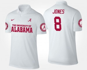 Julio Jones University of Alabama Polo White Name and Number #8 For Men
