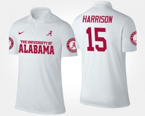 #15 Name and Number White Men's Ronnie Harrison Bama Polo