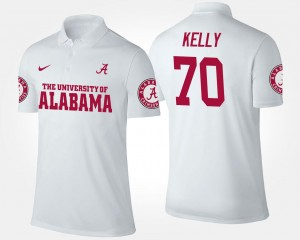 Ryan Kelly Bama Polo White #70 For Men Name and Number