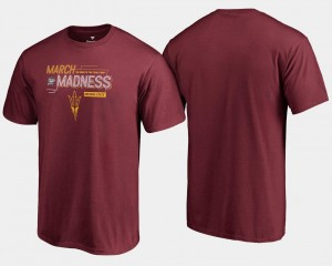 Basketball Tournament 2018 March Madness Bound Airball For Men Maroon Sun Devils T-Shirt