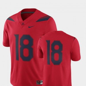 For Men's 2018 Game Nike Wildcats Jersey Red #18 College Football