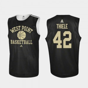#42 For Men's Practice Adidas College Basketball Black Brendan Thiele Army Jersey