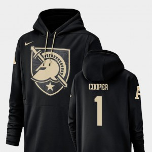 Champ Drive #1 Fred Cooper United States Military Academy Hoodie Nike Football Performance Black Mens