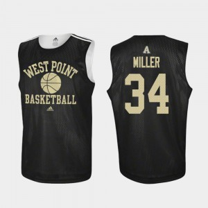 Adidas College Basketball #34 Black Men's Practice John Miller United States Military Academy Jersey