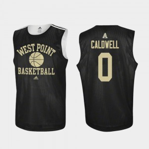 Adidas College Basketball Mens Josh Caldwell United States Military Academy Jersey Practice #0 Black