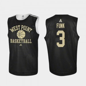 Practice Mens #3 Adidas College Basketball Black Tommy Funk United States Military Academy Jersey